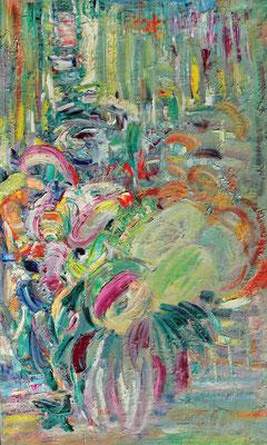 Bouquet. 2019. Oil on canvas. 100 x 60