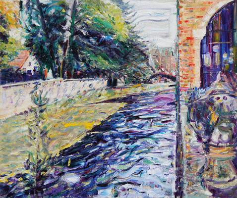 Flowing Away Shadows of Bruges. 2012. Oil on canvas. 100 x 120