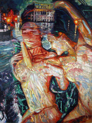 Evening Tales. 2010. Oil on canvas. 153 x 115