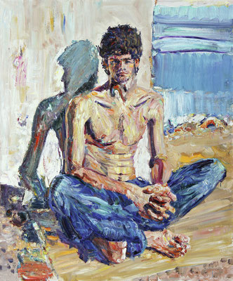 Zakhar. In Duino. 2012. Oil on canvas. 120 x 100