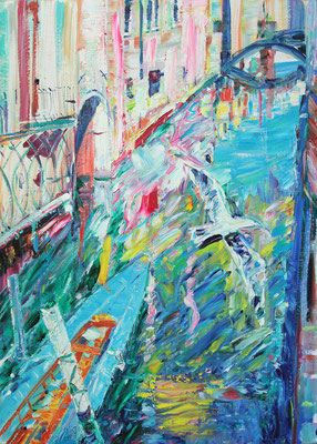 Venice in the Spring. 2020. Oil on canvas, cardboard. 70 x 50