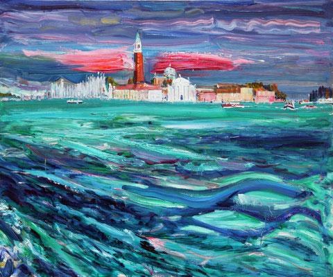 Rapid Flood. 2012. Oil on canvas. 100 x 120