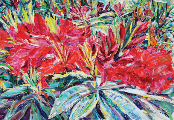 Flowers 1. 2013. Oil on canvas. 89 x 130