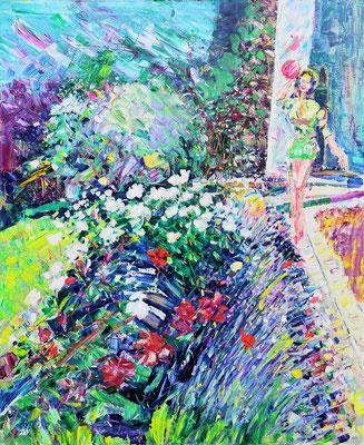 Garden. 2014. Oil on canvas. 110 x 90