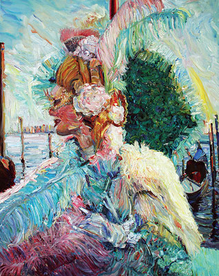 Venice. Carnival. 2009. Oil on canvas. 100 x 80