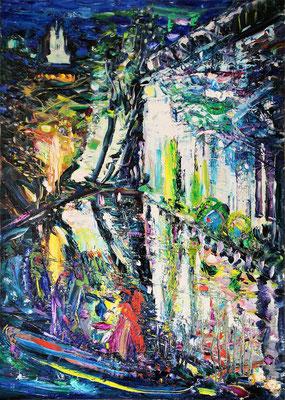 Gift. Clown. 2013. Oil on canvas. 100 x 70