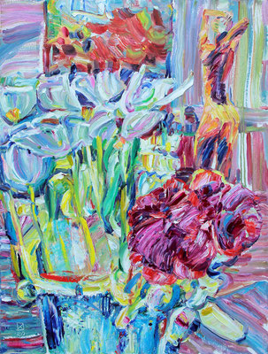Blue Bouquet. 2020. Oil on canvas. 80 x 60