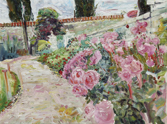 Pink Path. 2012. Oil on canvas. 90 x 120