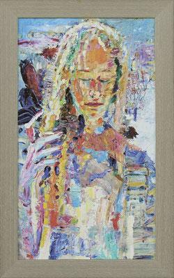Vernal. 2018. Oil on canvas, cardboard. 66 x 38