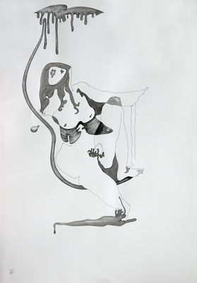 Adam's Rib. The project 'Reflection'. 2001. Ink on paper. 100 x 70