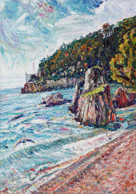 Miramare Foreland. 2011. Oil on canvas. 100 x 70