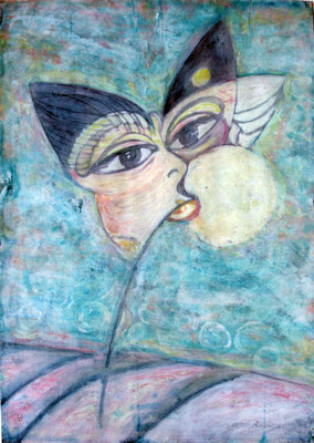 Dream. Morning. 1991. Mixed media on paper. 86 x 61