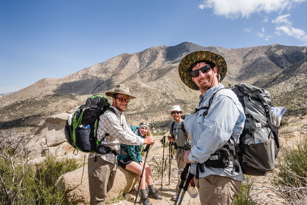 Hiker Jenna, Rebelyell, Mountaingoat and Greg