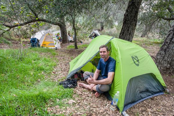 First campsite