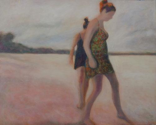 beach 80 x 120 cm Öl auf LW