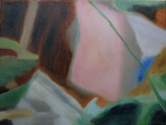 Bettrandgeschichten 3 30 x 40 cm Öl auf LW
