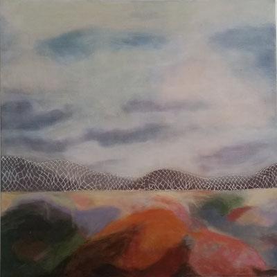 Himmel un Ääd 2, 60 x 60 cm Akryl auf LW