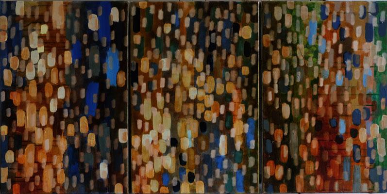 triptichon 3 mal 60 x 40 cm Akryl/Öl auf LW