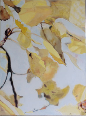 herbstblätter 80 x 100 cm Öl auf LW