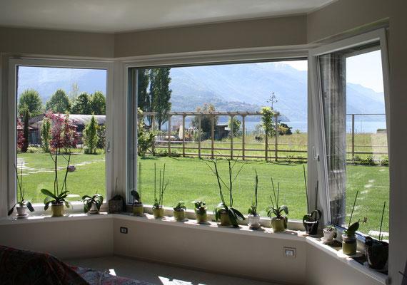 finestre e davanzali in legno alluminio