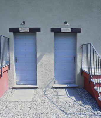 porte d'entrata in legno lamellare