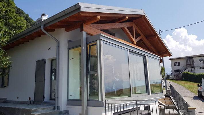 veranda in alluminio