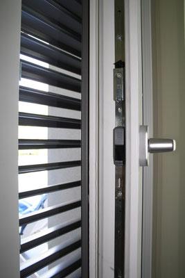 particolare serramento legno alluminio