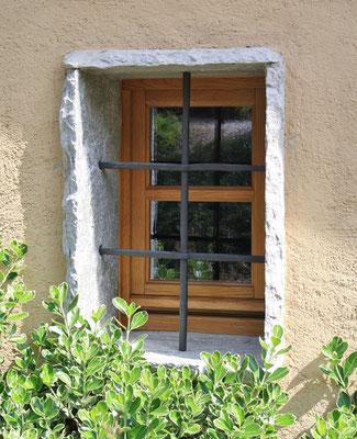 finestra in legno di rovere