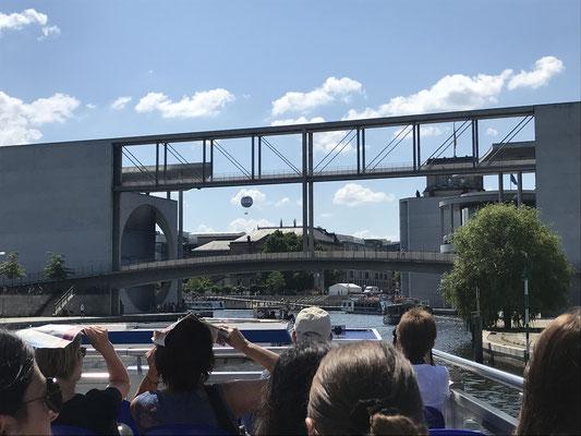 Sightseeing: boat trip through Berlin Center