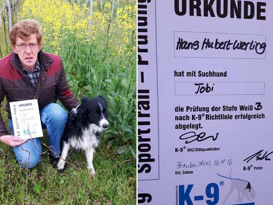 Hans Hubert mit Tobi, Weiß B