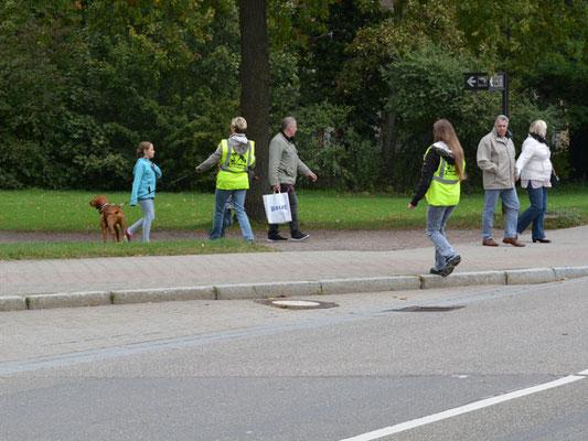 Eine breite, viel befahrene Straße, viele fremde Menschen, die es gilt auszuschließen, verschiedene Untergründe - Andras hat mächtig was zu tun