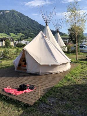 Turnschober Fitness Langenthal - Trainingsweekend Zentralschweiz 2019 - Zelt