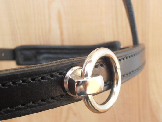 Akademischer Kappzaum *HIRONDELLE*, Detail Ring