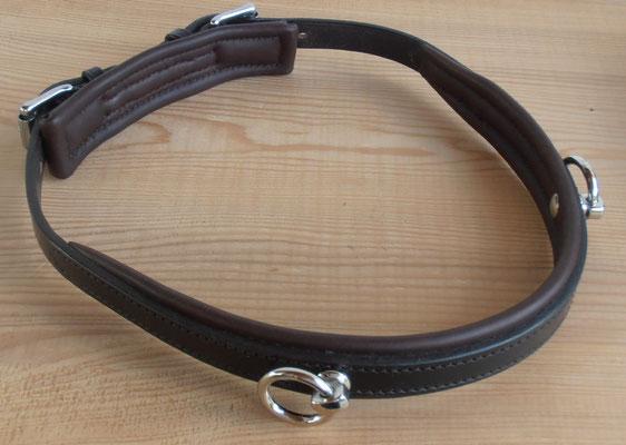 Akademischer Semi-Kappzaum *MONÀ*, 2 Ringe, mit Softlederpolster, Ansicht von hinten