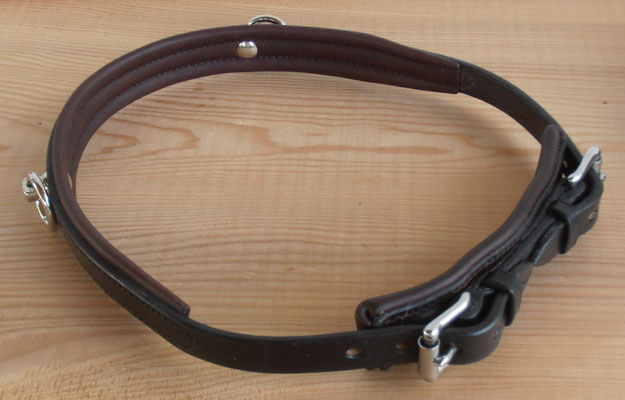 Akademischer Semi-Kappzaum *MONA*, 2 Ringe, mit Softlederpolster