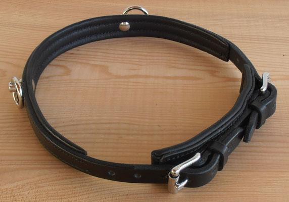 Akademischer Semi-Kappzaum *HAIKO*, 2 Ringe, mit Softlederpolster, Ansicht von hinten
