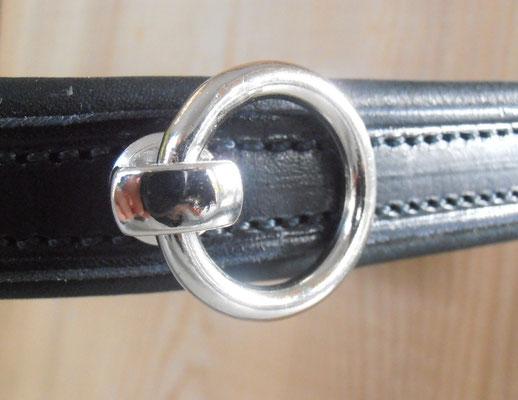 Akademischer Kappzaum*MARGA*, Detail Ring mit Softlederpolster
