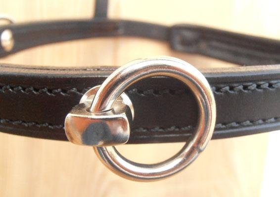 Leichter Reit-Kappzaum, Detail drehbarer Ring von vorne