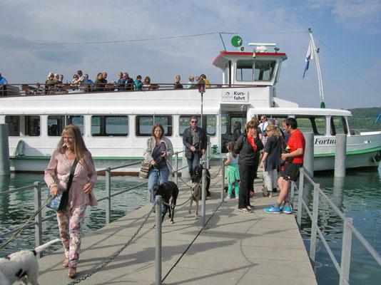 Ankunft in Beinwil am See nach kurzer Schiffsfahrt