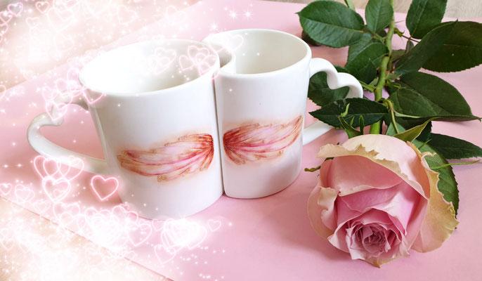 Tassenset mit Engelsfügel NONarte-CoCon >for angels only<