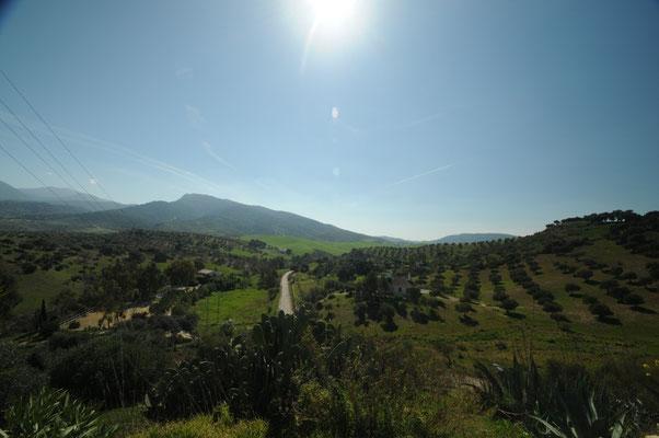 Die Aussicht von der Terrasse nach Südwesten