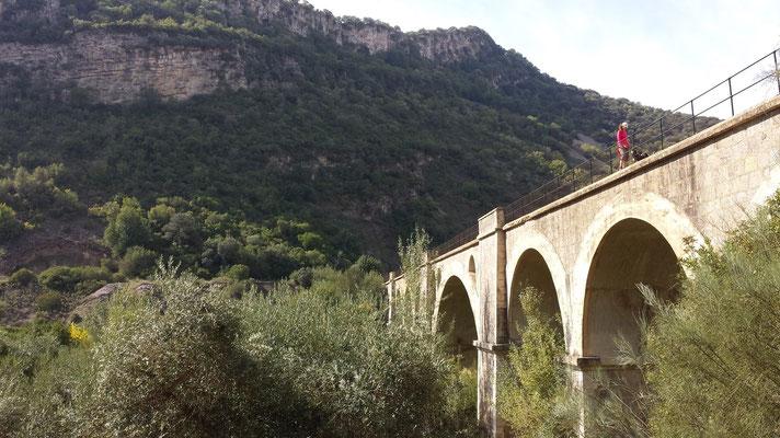 Der Viadukt von Coripe. Hier zweigt links davon ein Weg zu der alten Eiche ab. Die schauen wir uns ein anderes Mal an.