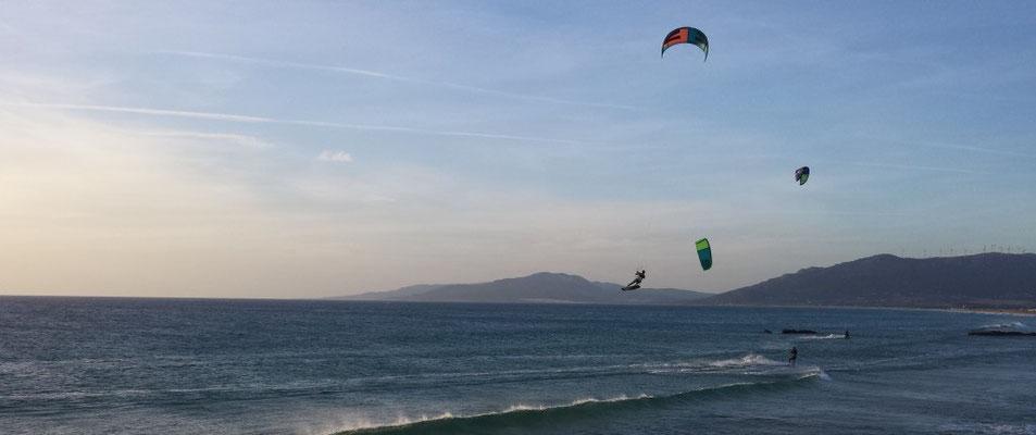 Kite surfers in Tarifa
