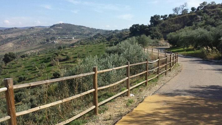 "The famous walkway ""Via Verde"" near Olvera"