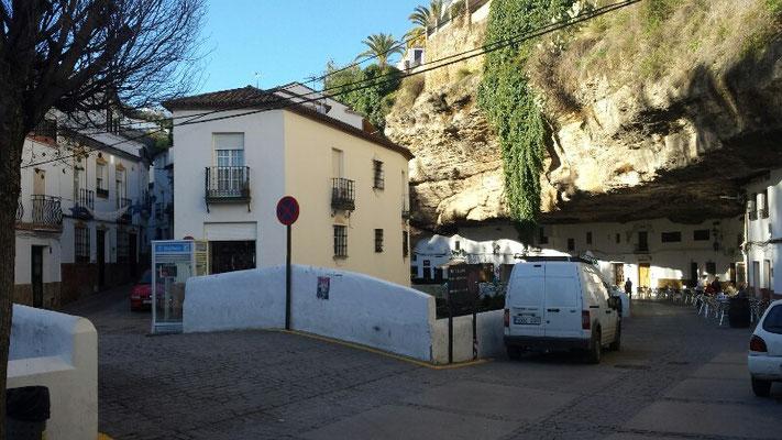 The famous bars inside the rocks of Setenil de las Bodegas