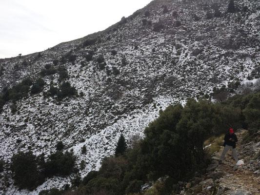 Viel ist nicht mehr übrig vom Schnee.