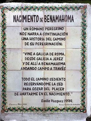 Ein Gedicht von Emilio Vazquez über die Quelle.