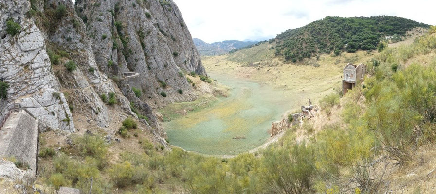"A dried reservoir lake in the ""Serranía de Ronda"" near Benaoján"