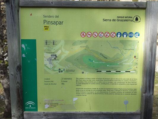 Vorschau auf den Streckenverlauf und Beschreibung der Route.