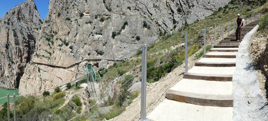 Wo man früher noch über loses Geröll stolpern musste, um zum Einstieg zu gelangen, ist heute ein gut angelegter Wanderweg.